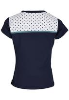 Lithe - Poly Spandex V-neck Top Navy