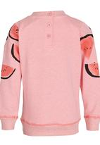 POP CANDY - Printed Sweat Top Mid Pink