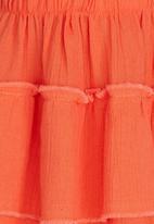 See-Saw - Ruffle Hem Skirt Coral