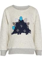 POP CANDY - Printed Sweat Top Grey