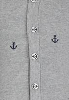 POP CANDY - Boys Printed Cardigan Grey