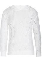 Rebel Republic - Hooded Crochet Knit White