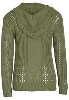 Rebel Republic - Hooded Crochet Knit Khaki Green