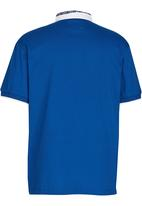 Retro Fire - Chinese Collar Golfer Blue