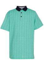 Retro Fire - Boys Golfer Light Green