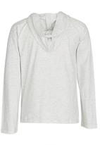 Rebel Republic - Hooded Tee with Applique Pale Grey