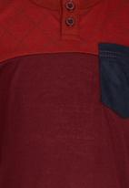 POP CANDY - Boys Henley Tee Dark Red