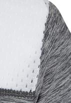 Lithe - Poly Spandex V-neck Top Grey