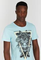 GUESS - Short Sleeve T-shirt Mid Blue