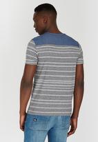 GUESS - Short Sleeve Henley T-Shirt Grey
