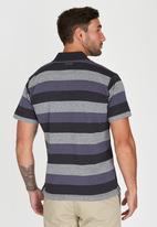 JEEP - Short Sleeve Yarn Dyed Golfer Navy