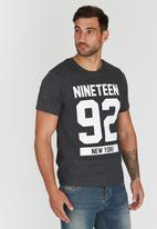 Element - NY 92 Short Sleeve T-Shirt Dark Grey