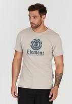 Element - Vertical Short Sleeve T-Shirt Beige