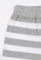 POP CANDY - Printed Stripe Short Grey