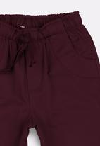 POP CANDY - Boys Twill Shorts Red