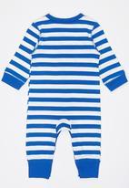 POP CANDY - Boys Stripe   Romper Mid Blue