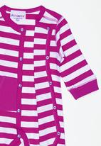 POP CANDY - Girls Stripe   Romper Mid Pink