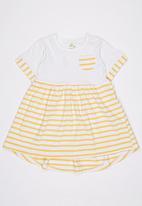 POP CANDY - Printed Stripe Dress Yellow