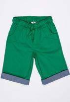 POP CANDY - Boys Twill Shorts Green