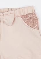 See-Saw - Lace Inset Short Pearl