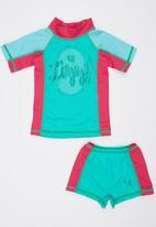 Lizzy - Rashvest Two Piece Turquoise