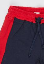 POP CANDY - Boys Unbrushed Fleece Short Navy
