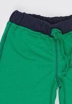 POP CANDY - Boys Unbrushed Fleece Short Dark Green