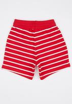 POP CANDY - Printed Stripe Short Red