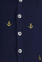 POP CANDY - Boys Printed Cardigan Navy