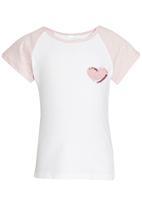 See-Saw - Raglan Sleeve Tee Mid Pink