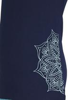 Lithe - Poly Spandex Floral Print Top Navy