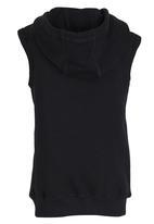 Lithe - Fleece Pullover Hood Black
