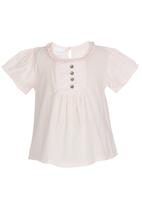 See-Saw - Cropped Boho Top Pale Pink