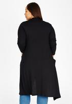 edit Plus - Longer Length Knit Cardigan Black