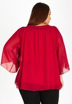 edit Plus - Butterfly Sleeve Blouse Red