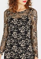 ONLY - Long Sleeve Lace Detail Dress Black