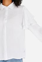 STYLE REPUBLIC - Frill Detail Shirt White