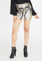 Boohoo - Sequin Mini Black