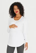 Cherry Melon - Pleat Top long sleeve CM390A- white White