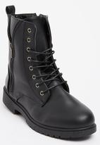 That's it - Lace-up Utility Boots Black
