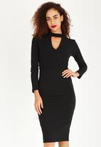 STYLE REPUBLIC - Choker Detail Dress Black