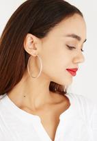 All Heart - Mesh Hoop Earrings Rose gold