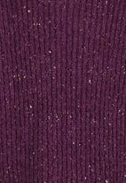 See-Saw - Boucle Knit Cardigan Mid Purple