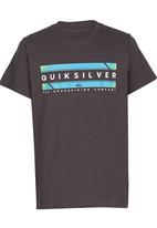 Quiksilver - In Da Box  Boys Tee Dark Grey