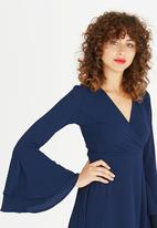 STYLE REPUBLIC - Flared Bell Sleeve Dress Navy