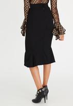 Gert-Johan Coetzee - Ruched Flare Panel Skirt Black