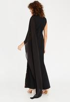 Gert-Johan Coetzee - Back Cascade Dress Black
