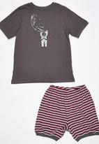 Rebel Republic - Moon Man Pyjama Set Dark Grey