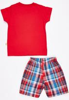 POP CANDY - Printed  Top And Short Set Red
