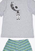 Rebel Republic - Moon Man Pyjama Set Grey